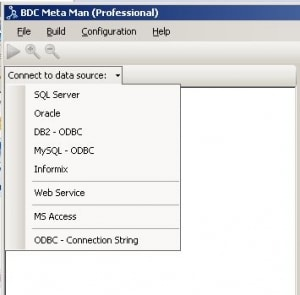 Connect to a wide variety of Data Sources with the BDC Meta Man
