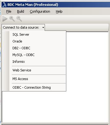 BDC Meta Man connecting to external data sources