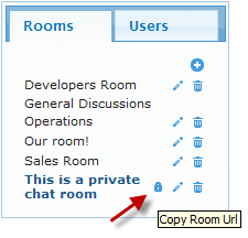 instant private chat room web