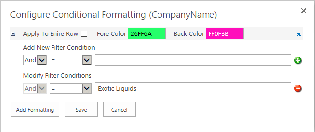 Conditional Formatting Data View Web Part SharePoint 2013