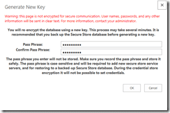 Encrypt the credential database using a new key