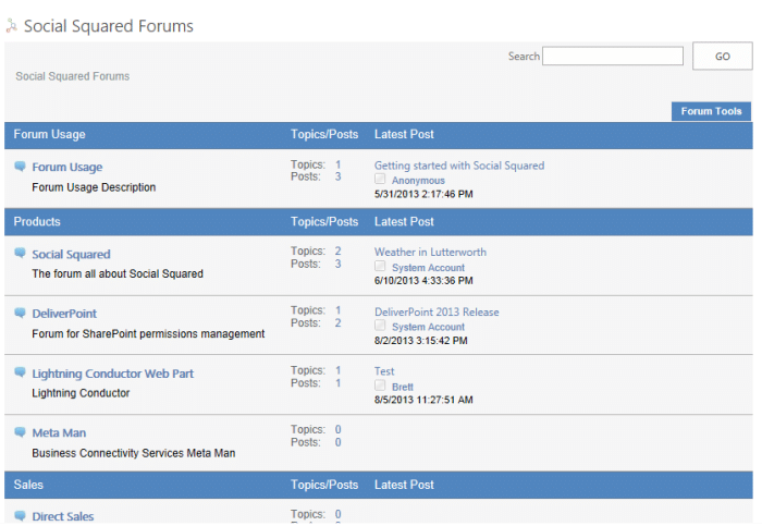 SharePoint 2013 Discussion Forum