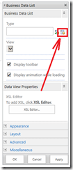 Open the picker to select the External Content Type