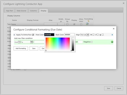 Lightning Conductor Add-In Conditional Formatting