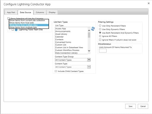 Lightning Conductor Add-In Configuration