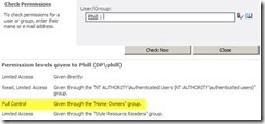 SharePoint Permission Level Limited Access