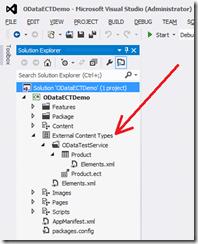 """new """"External Content Types"""" folder"""