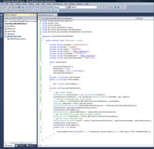 Code behind file