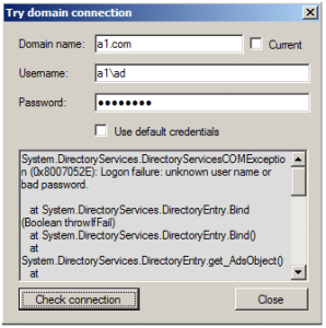 Try domain connections