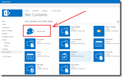 Add an app to SharePoint site