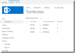 Filtered external data from MS SQL database is displayed on SharePoint 2013 page