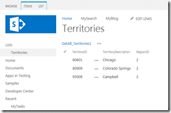Another filtered external data from MS SQL database is displayed on SharePoint 2013 page
