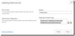 Create External List
