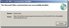 Click Close once the instalation is complete