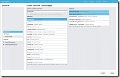 Configure the external content type