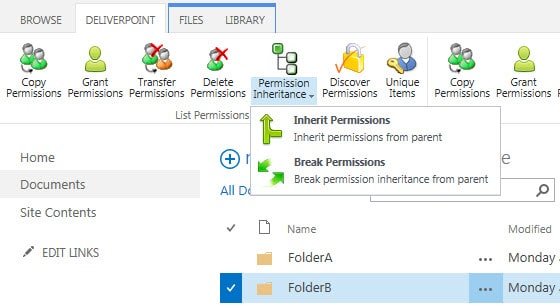 SharePoint Permission Inheritance Management