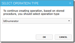"Select ""IdEnumerator"" operation type"