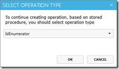 "Select ""IdEnumerator"" operation type"