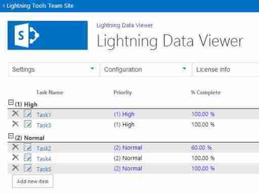 Data Viewer App for SharePoint Online - Lightning Tools