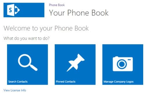 SharePoint Phone book