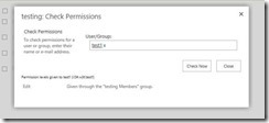 Deny Access to Users in SharePoint - Check Permissions