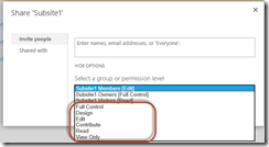 SharePoint 2016 Permissions Guide - Selecting a Permission Level