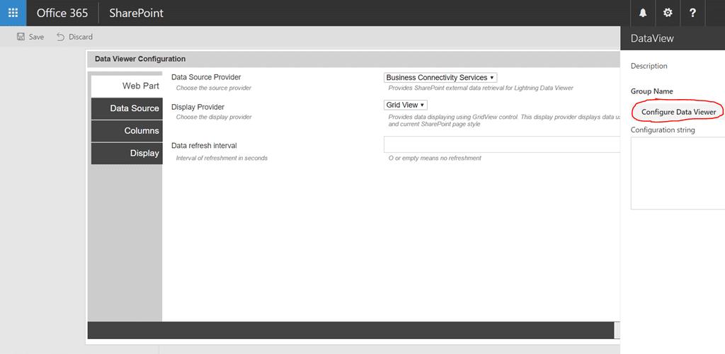 SharePoint Framework SPFx Client Side Web Part–Data Viewer