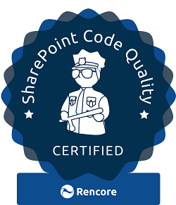 SharePoint Code Quality and Best Practice - Rencore Certification