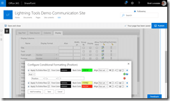 SharePoint Online Column Formatting with the Lightning Conductor