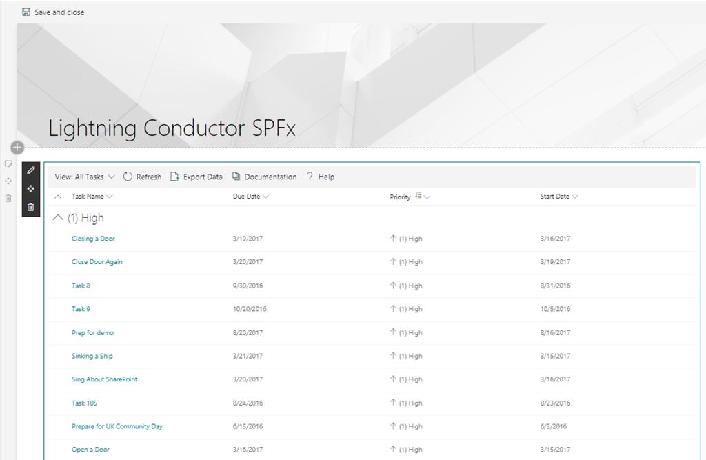 Lightning Conductor SPFx Client Side Web Part - Lightning Tools