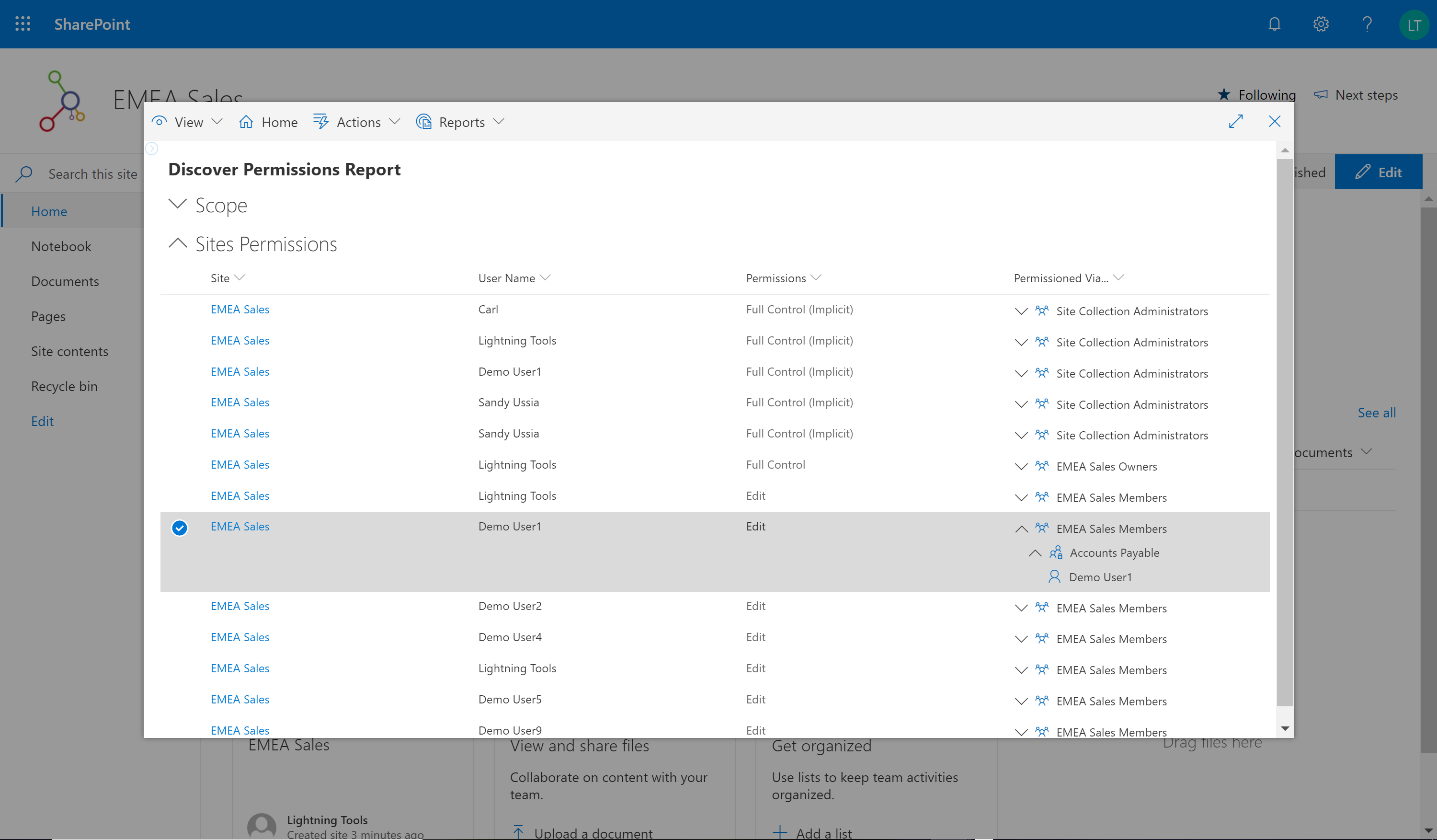 SharePoint Online Permissions Management Tool - Lightning Tools