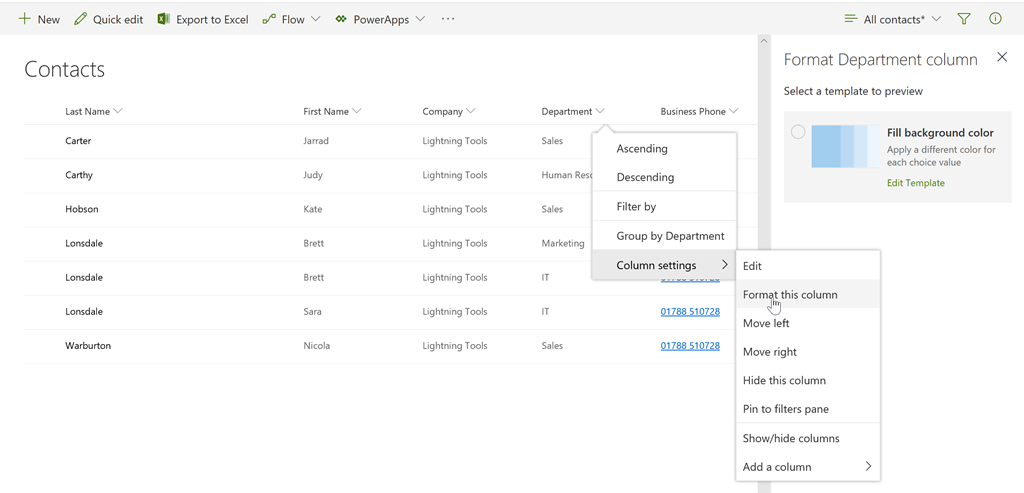 New SharePoint Feature - Easy SharePoint Column Formatting